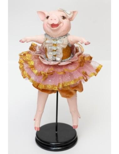 Kwiat Storczyk Mini z Liściem