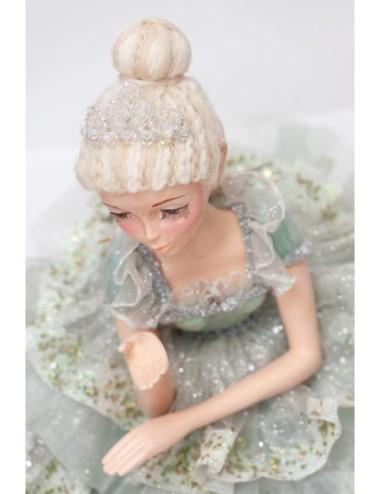 Kwiat Sztuczny Eustoma Krem